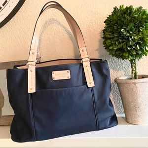 Kate Spade Navy Blue Large Tote